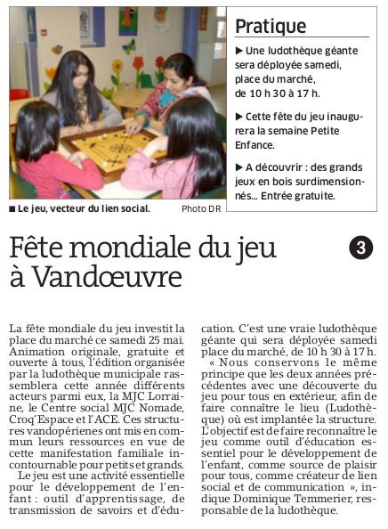 Source : L'Est-républicain, 24 mai 2013